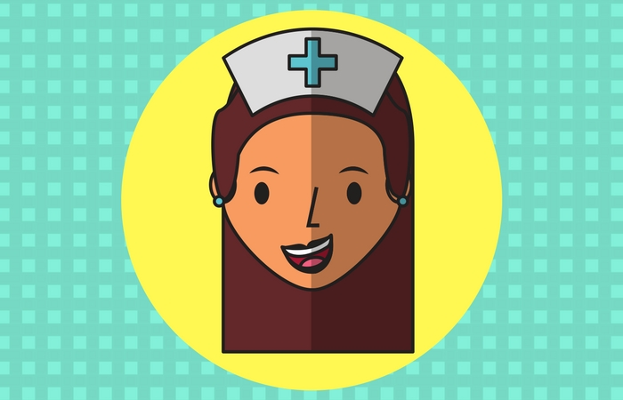 Hurt women behind happy proper woman clipart svg freeuse download 30 Funniest Nurse Cartoons That Speak Louder Than Words - NurseBuff svg freeuse download