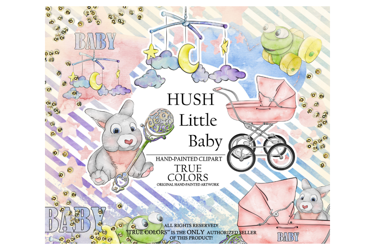Hush little baby clipart image black and white library Hush Little Baby Clip Art Fashion Illustration Planner image black and white library