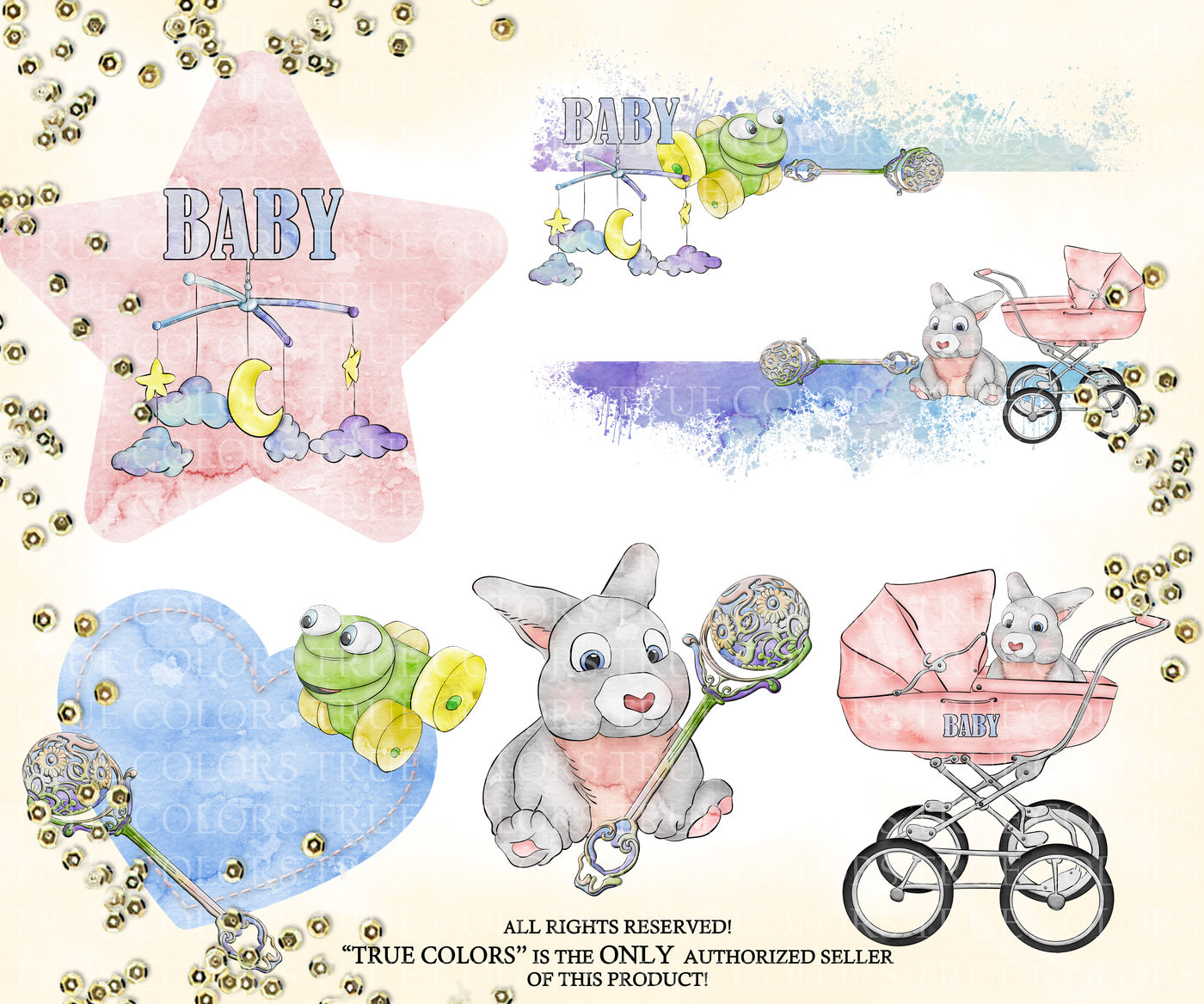 Hush little baby clipart clip art free library Hush Little Baby Clip Art Fashion Illustration Planner Stickers ... clip art free library