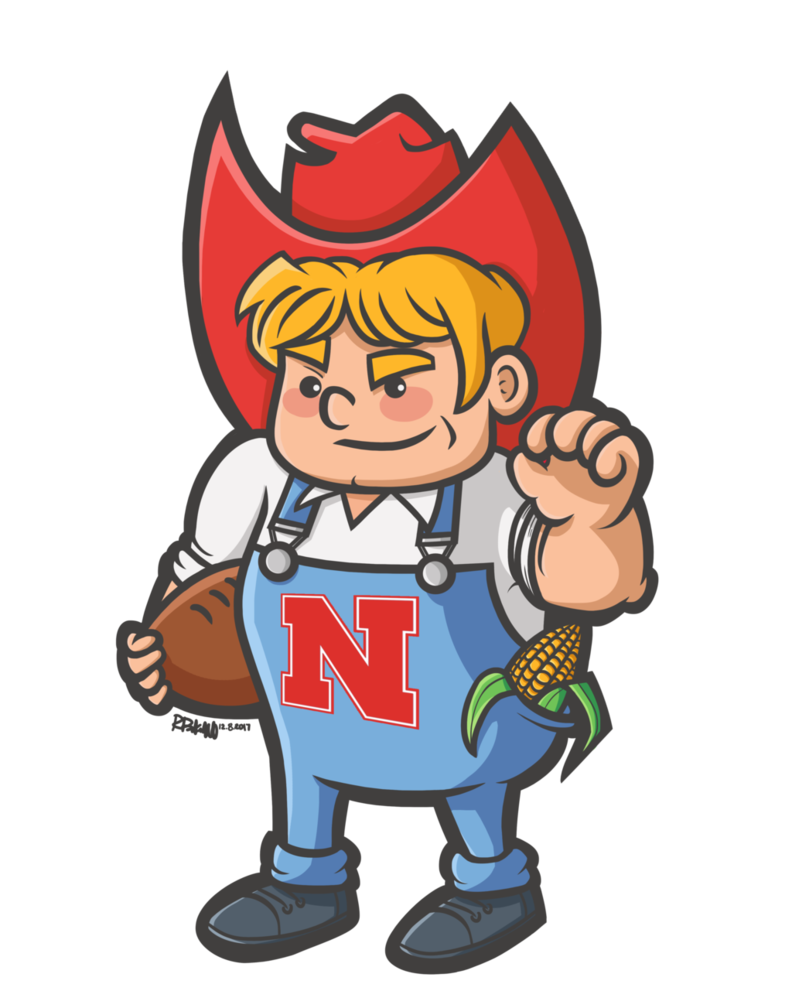 Husker football clipart vector black and white download Herbie Husker by Kyokaiba on DeviantArt vector black and white download