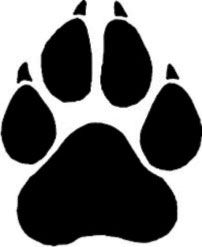 Husky paw clipart banner black and white library German Shepherd Paw Print | dog | Paw print clip art, Wolf paw print ... banner black and white library