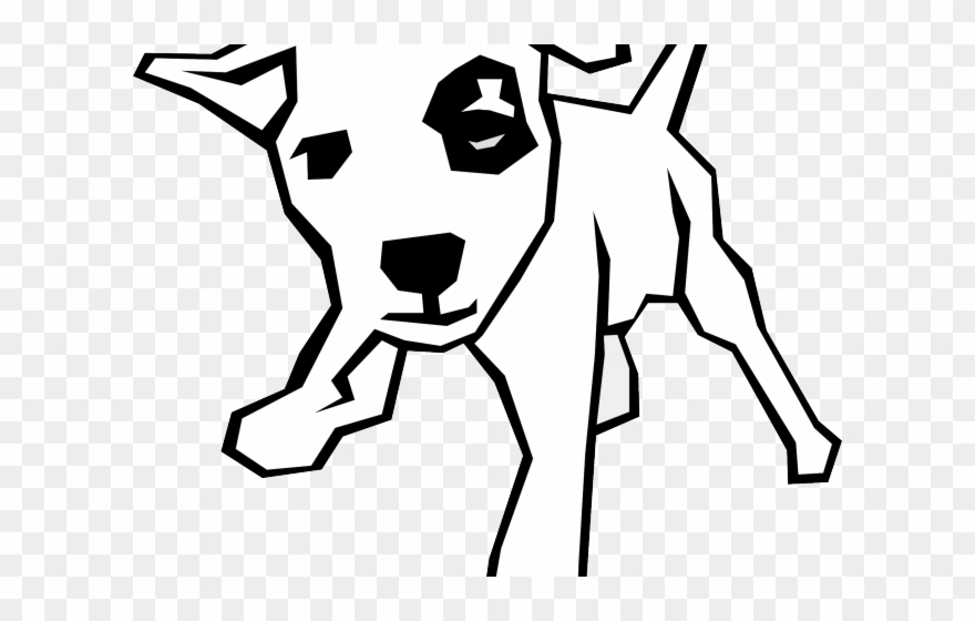 Husky stick figure clipart black and white svg library Dog Clipart Xmas - Dog Drawings Black And White - Png Download ... svg library