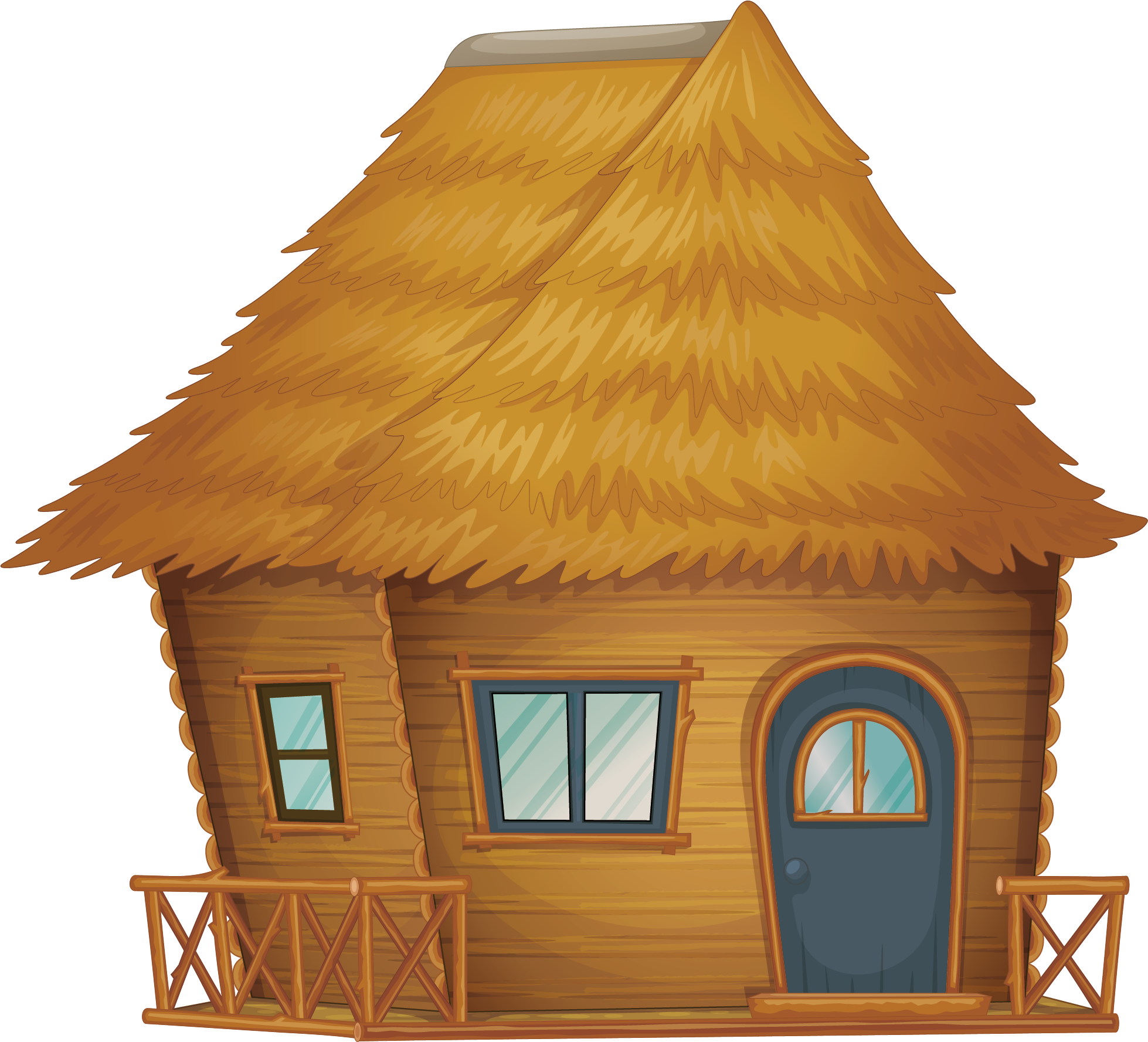 Hut house clipart picture free library Nipa hut Cartoon Clip art - Raw straw house 1958*1777 transprent Png ... picture free library