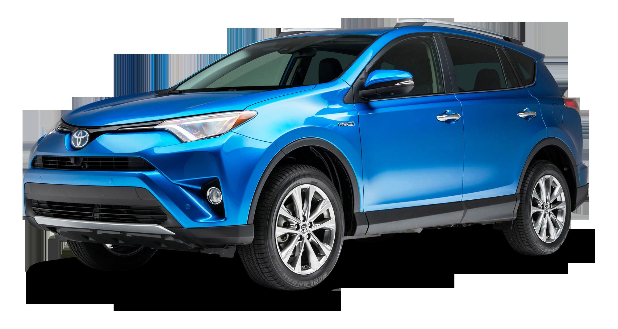 Hybrid car clipart graphic black and white download Blue Toyota RAV4 Hybrid Car PNG Image - PurePNG | Free transparent ... graphic black and white download