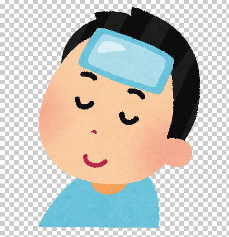Ice pack on head clipart