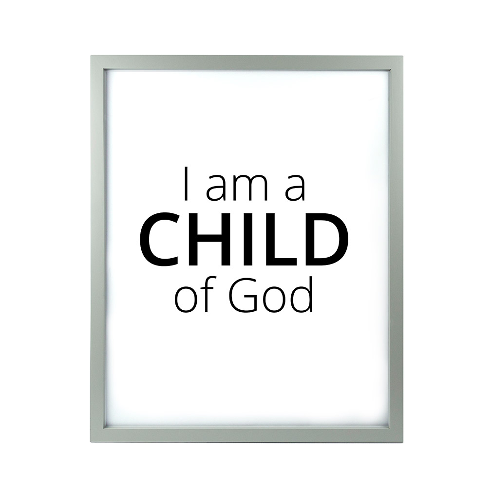 I am a child of god clipart black and white vector download I Am A Child of God LDS Quote Wall Art - Modern vector download