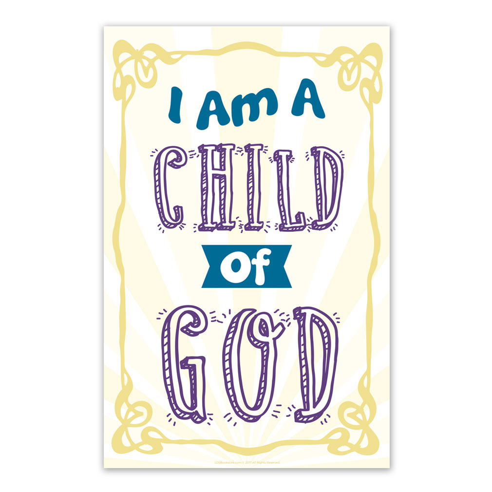 I am a child of god clipart invite jpg free library I Am a Child of God Poster - Sunburst jpg free library