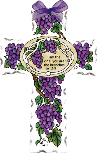 I am the vine clipart clip royalty free library Crosses-GX4011R-Grape Arbor//I am the vine; yo-Joan Baker ... clip royalty free library