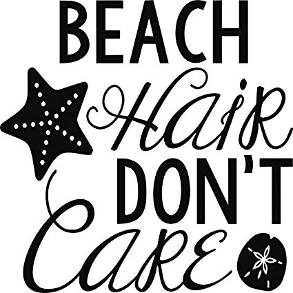I dont care black and white clipart picture freeuse download Amazon.com: BEACH HAIR DON\'T CARE VINYL STICKERS (5\