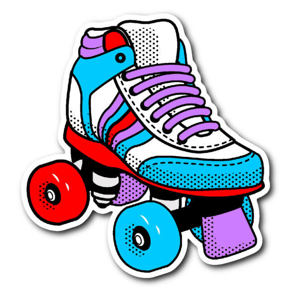 I heart the 80s clipart picture free stock 80's ROLLER SKATES Vinyl Die Cut Sticker – J & S Graphics picture free stock