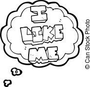I like me clipart free stock Clipart Vector of thought bubble cartoon i like food symbol ... free stock