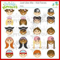 I like me clipart banner library library Just like me kid faces clipart includes 5 girls and 5 boys in ... banner library library