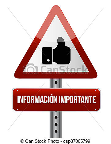 I like spanish clipart picture library library Stock Illustration of important information like Spanish sign ... picture library library