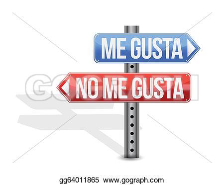 I like spanish clipart svg freeuse stock Vector Stock - Like, dislike spanish sign. Clipart Illustration ... svg freeuse stock