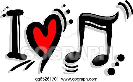 I love music clipart jpg free library Vector Illustration - Love music. EPS Clipart gg65261701 ... jpg free library