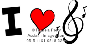 I love music clipart clip library download Clip Art Image of an I Love Music Design clip library download