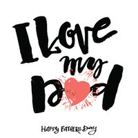 I love my dad clipart png library download I Love MY Fathers Day Concept Lettering Motivation stock ... png library download