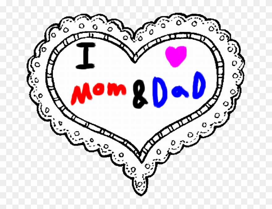 I love my dad clipart png free Mom And By Roxaspikachu - Love My Mom And Dad Clipart ... png free