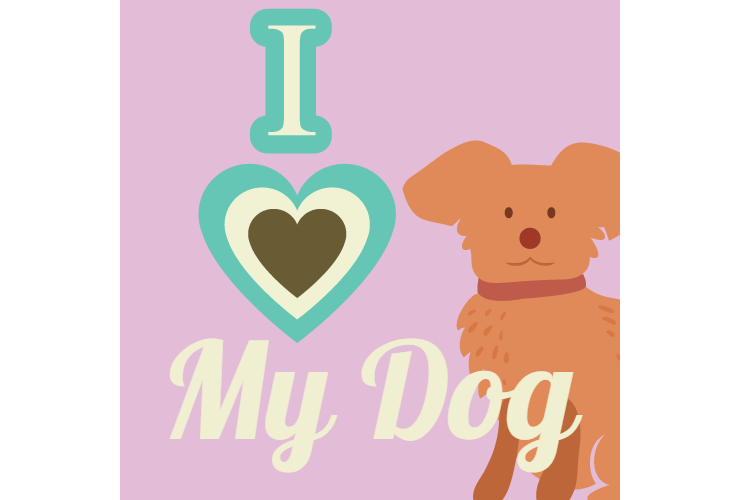 I love my dog clipart clipart transparent download I Love My Dog Bumper Sticker clipart transparent download