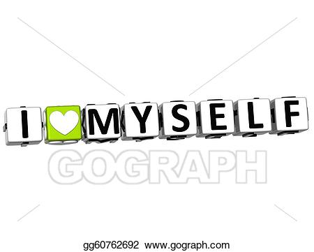 I love myself clipart picture freeuse download Clipart - 3d i love myself crossword block text. Stock ... picture freeuse download