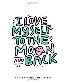 I love myself clipart graphic black and white download I love myself to the moon and back - Creative Notebook, To ... graphic black and white download