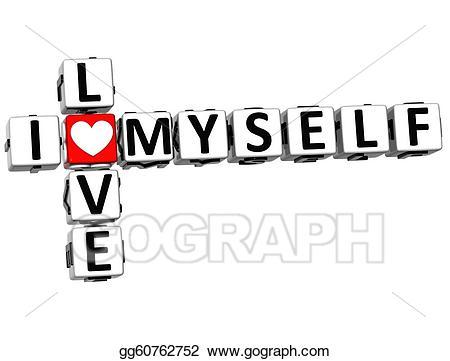 I love myself clipart jpg transparent download Clipart - 3d i love myself crossword block text. Stock ... jpg transparent download