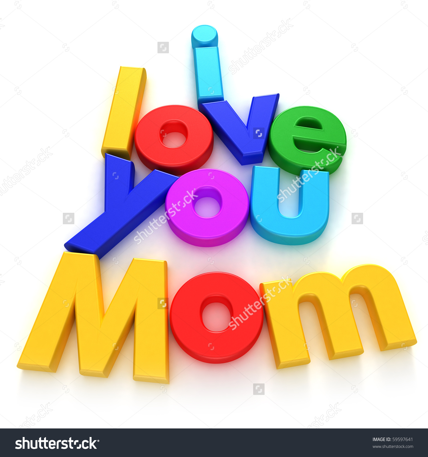 I love u mama clipart transparent library Love You Mom Written Colourful Letter Stock Illustration 59597641 ... transparent library