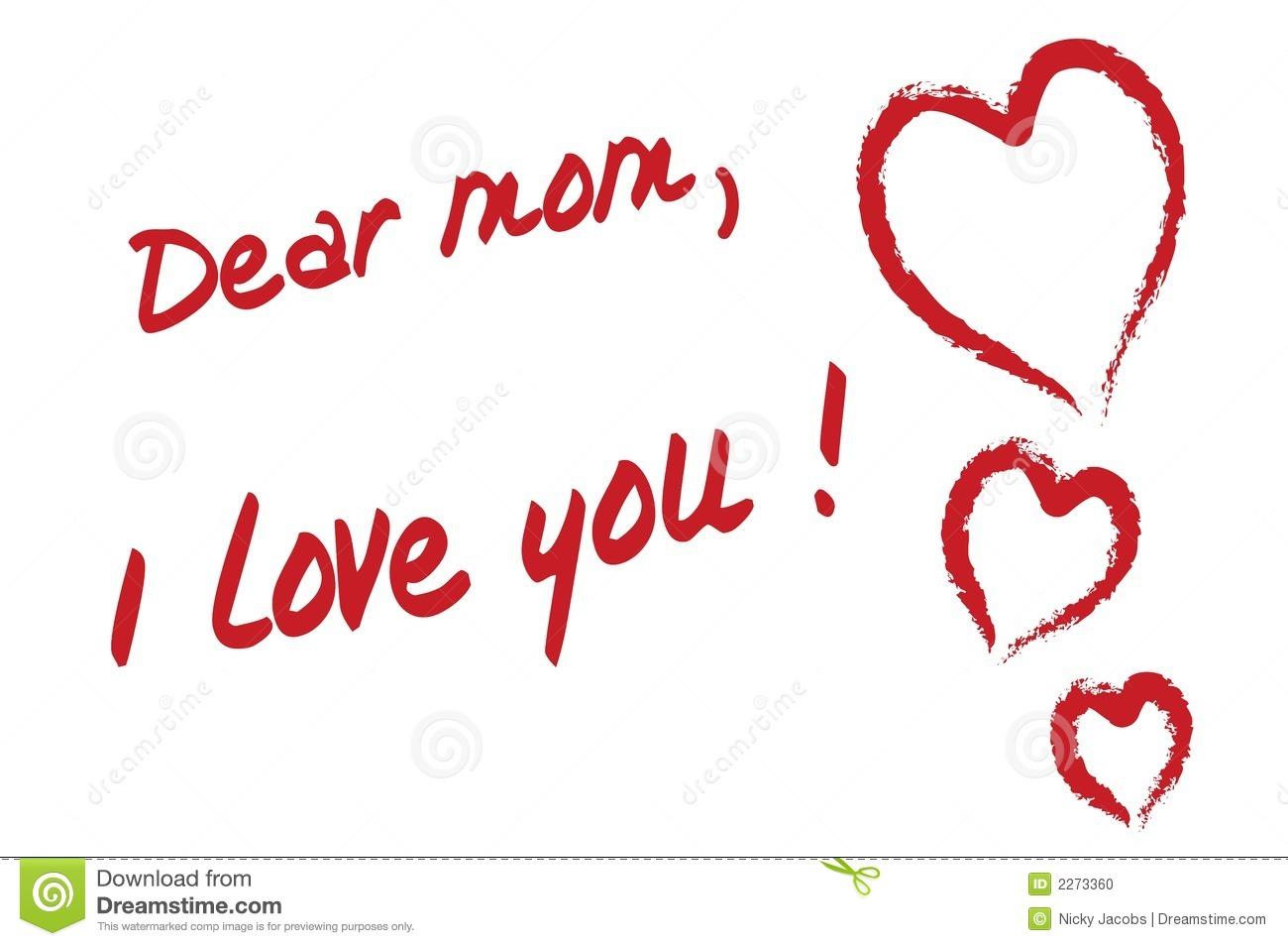 I love u mama clipart clipart black and white Dear Mom I Love You Stock Photo - Image: 2273360 clipart black and white