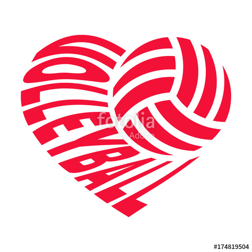 I love volleyball clipart graphic free library Ball and inscription «VOLLEYBALL» in the shape of a heart ... graphic free library