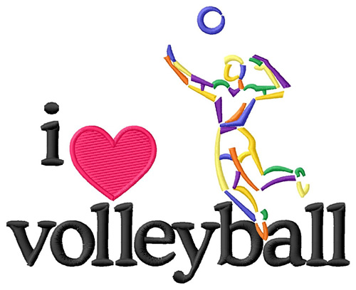 I love volleyball clipart banner transparent stock I Love Volleyball/male Embroidery Design banner transparent stock