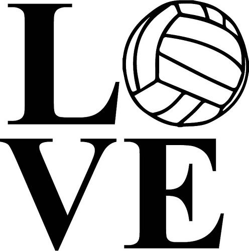 I love volleyball clipart jpg black and white library Love Volleyball | Cutting Files | Volleyball, Svg cuts jpg black and white library