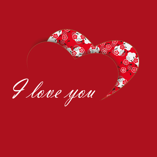I love you card clipart black and white