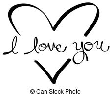 I love you card clipart black and white clip art I love you with realistic heart. I love you cartoon text ... clip art