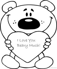 I love you card clipart black and white jpg I Love You Mom Coloring Pages | Free download best I Love ... jpg