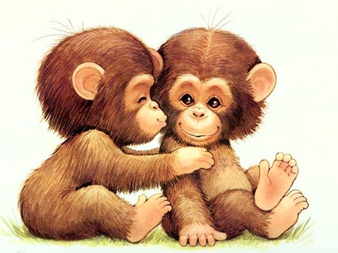 I love you clipart monkey clip freeuse download 3 Ways to Draw a Monkey - wikiHow clip freeuse download