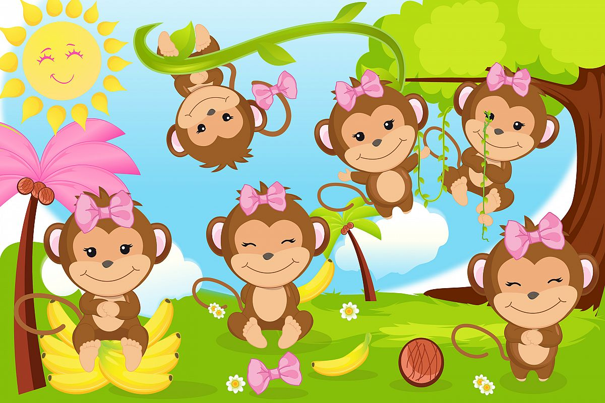 I love you clipart monkey clip art library stock Monkey clipart, Monkey girl illustrations clip art library stock