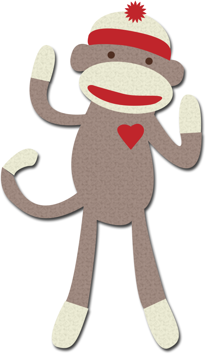 I love you clipart monkey banner black and white library 17+ Sock Monkey Clipart | ClipartLook banner black and white library