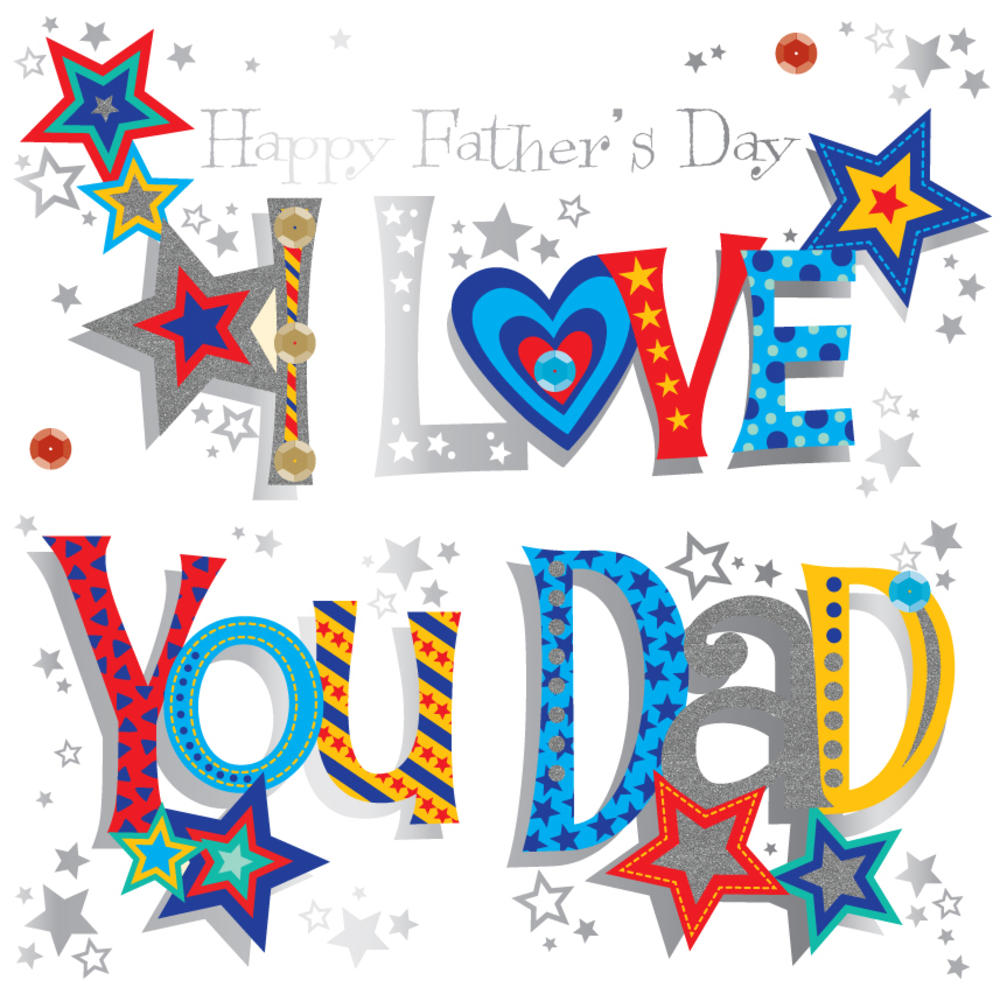 I love you daddy clipart banner royalty free download I Love You Dad Father\'s Day Greeting Card banner royalty free download