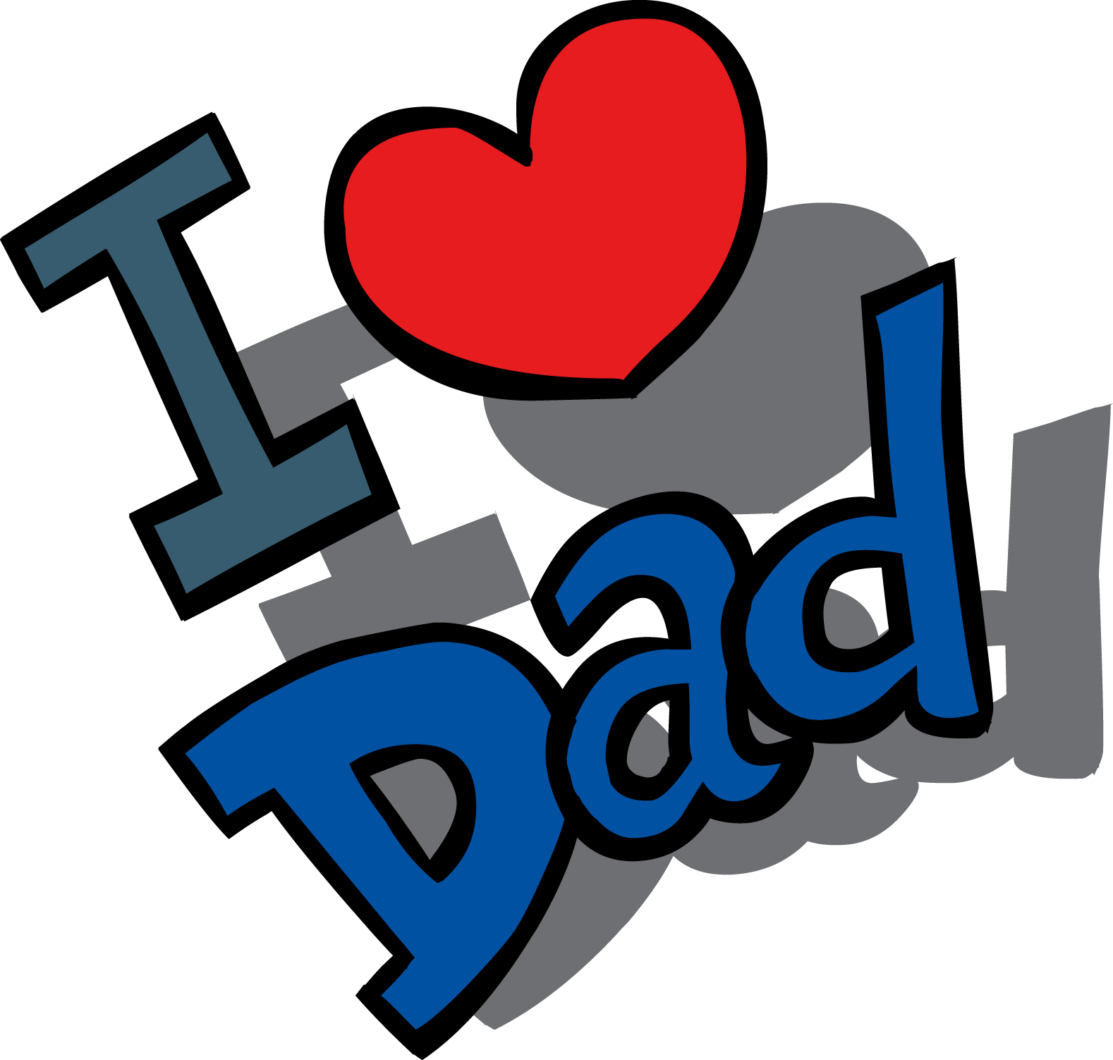 I love you daddy clipart image free Father is a most important person in our life so wish your ... image free