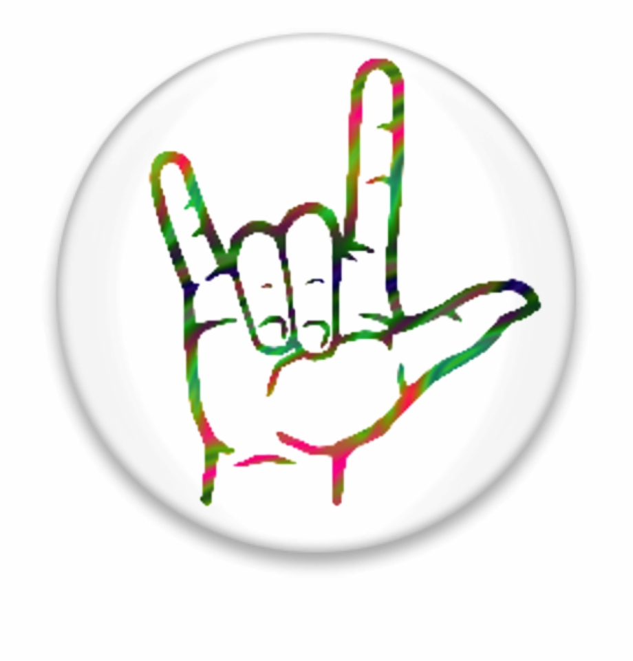 I love you hand clipart png transparent download Asl I Love You Button Image - Love You Hand Signal Free PNG ... png transparent download