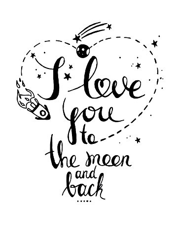 I love you to the moon and back clipart clip royalty free library I Love You TO The Moon and Drawn premium clipart ... clip royalty free library
