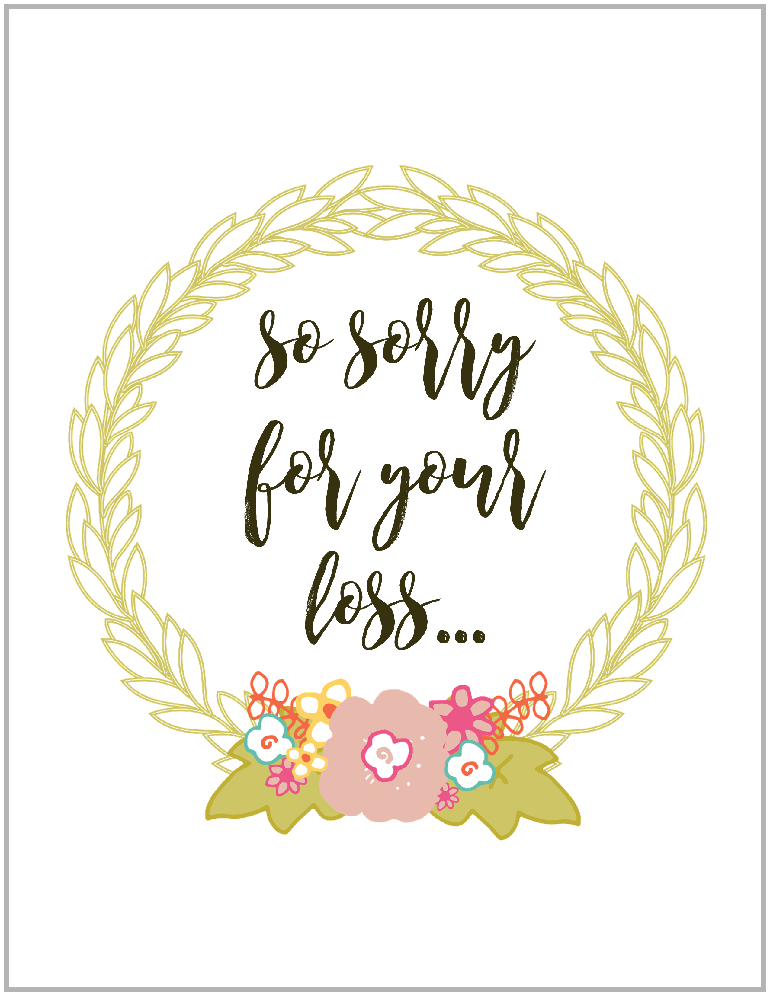 I m sorry for your loss color clipart clipart freeuse library Sympathy Cards - Paper Doll Stationery clipart freeuse library