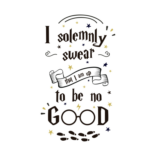 I solemnly swear i am up to no good clipart clip black and white download Harry Potter - I solemnly swear that i am up to no good t-shirt clip black and white download