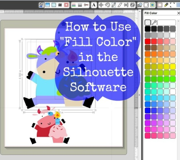 I tried it at home silhouette clipart image royalty free How to Use Fill Color in the Silhouette Software | Joy\'s Life image royalty free