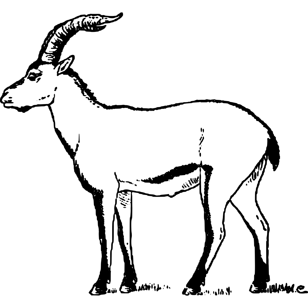 Ibex clipart svg black and white Ibex Clipart transparent PNG - StickPNG svg black and white