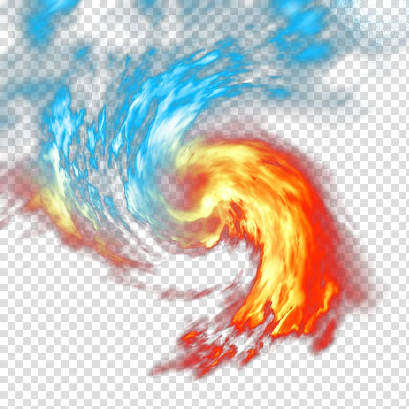 Ice and fire clipart transparent library Red and blue swirling fire , Light Fire Flame, Ice and fire ... transparent library