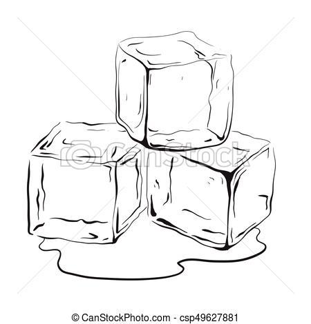 Ice black and white clipart clip freeuse Ice cube black and white clipart 3 » Clipart Portal clip freeuse