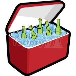 Ice box clipart jpg freeuse download cooler loaded with ice and beer clipart. Royalty-free clipart # 398252 jpg freeuse download