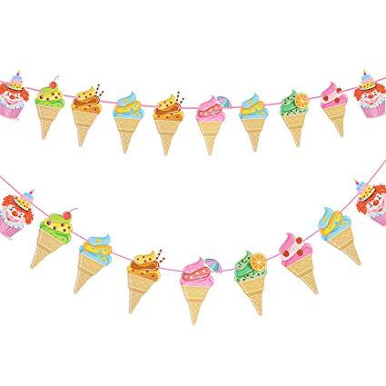 Ice cream banner clipart