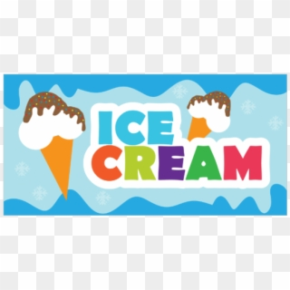 Ice cream banner clipart jpg royalty free library Ice Cream - Banner Ice Cream, HD Png Download (#2279673 ... jpg royalty free library